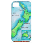 Mapa de Nueva Zelanda 2 iPhone 5 Case-Mate Cárcasas