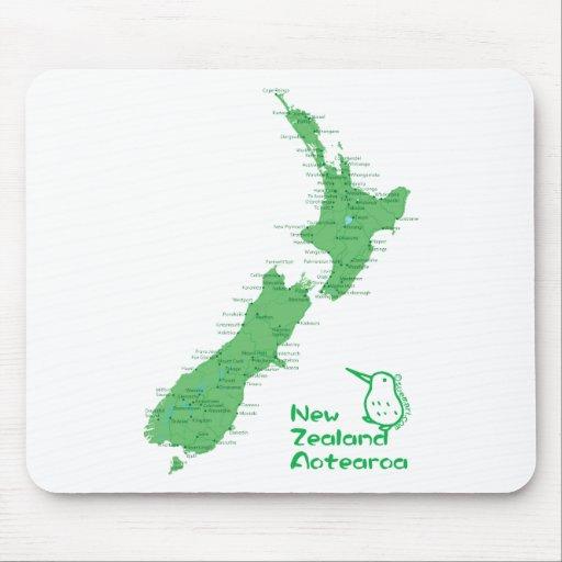 Mapa de Nueva Zelanda Alfombrillas De Raton