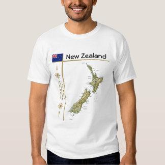Mapa de Nueva Zelanda + Bandera + Camiseta del Remera