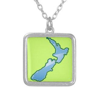 MAPA de Nueva Zelanda Colgante Cuadrado