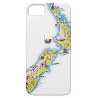 Mapa de Nueva Zelanda Funda Para iPhone SE/5/5s