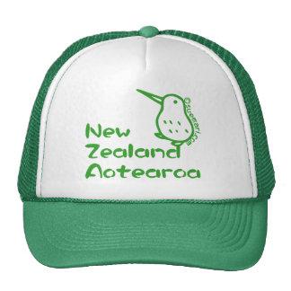 Mapa de Nueva Zelanda Gorros