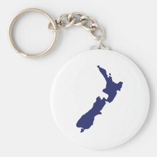 Mapa de Nueva Zelanda Llavero Redondo Tipo Pin