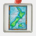 Mapa de Nueva Zelanda Ornato