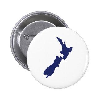 Mapa de Nueva Zelanda Pin Redondo 5 Cm