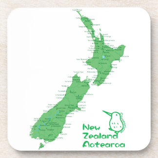 Mapa de Nueva Zelanda Posavasos De Bebida