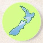 MAPA de Nueva Zelanda Posavasos Manualidades