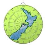 MAPA de Nueva Zelanda Tabla Dardos
