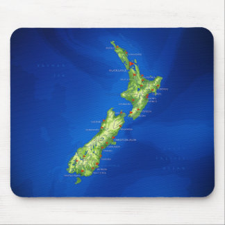 Mapa de Nueva Zelanda Tapete De Ratones