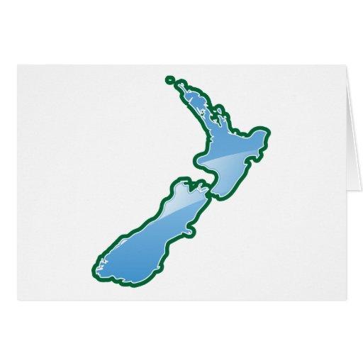 MAPA de Nueva Zelanda Tarjeta De Felicitación