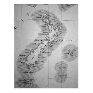 Mapa de Nueva Zelanda Tarjetas Postales