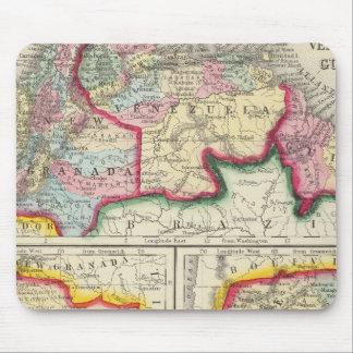 Mapa de nuevas Granada, Venezuela, y Guayana Mousepad