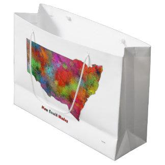 MAPA de NUEVO GALES DEL SUR - bolso del regalo, Bolsa De Regalo Grande