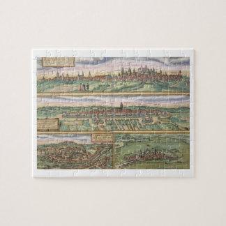 Mapa de Nuremberg, de Ulm, y de Saltzburg, de 'Civ Rompecabeza