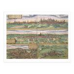 Mapa de Nuremberg, de Ulm, y de Saltzburg, de 'Civ Postales