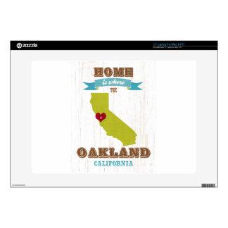 Mapa de Oakland, California - casero está donde el Portátil Skin