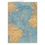 Mapa de Océano Atlántico Felicitaciones
