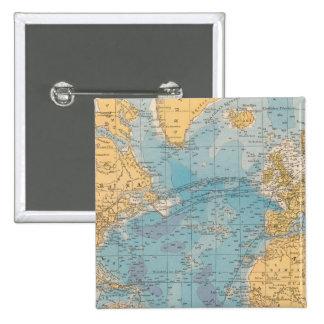 Mapa de Océano Atlántico Pin Cuadrado