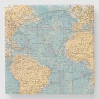 Mapa de Océano Atlántico Posavasos De Piedra