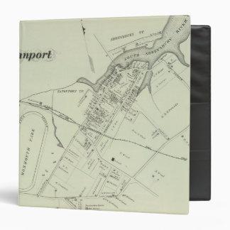 "Mapa de Oceanport, NJ Carpeta 1 1/2"""