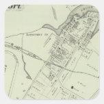 Mapa de Oceanport, NJ Pegatina Cuadrada