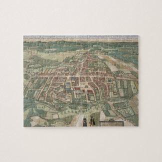 "Mapa de Odense, de ""Civitates Orbis Terrarum"" cerc Rompecabezas Con Fotos"