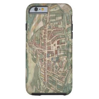 """Mapa de Odense, de """"Civitates Orbis Terrarum"""" Funda De iPhone 6 Tough"""