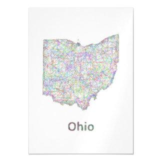 Mapa de Ohio Invitaciones Magnéticas