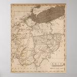 Mapa de Ohio por Arrowsmith Poster