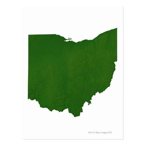 Mapa de Ohio Postales