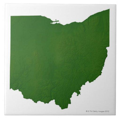 Mapa de Ohio Teja Cerámica
