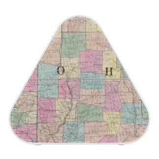 Mapa de Ohio y de Indiana