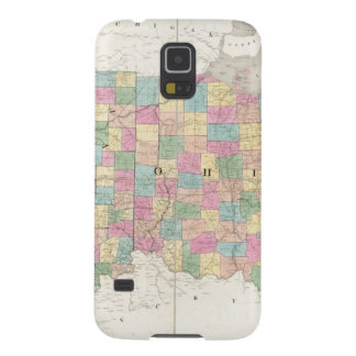 Mapa de Ohio y de Indiana Carcasas De Galaxy S5