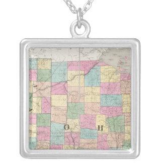 Mapa de Ohio y de Indiana Colgante Cuadrado