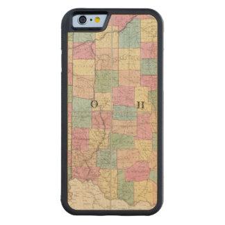 Mapa de Ohio y de Indiana Funda De iPhone 6 Bumper Arce