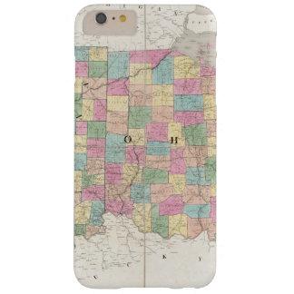 Mapa de Ohio y de Indiana Funda De iPhone 6 Plus Barely There