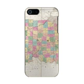 Mapa de Ohio y de Indiana Funda Para iPhone 5 Incipio Feather Shine