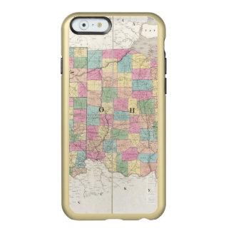 Mapa de Ohio y de Indiana Funda Para iPhone 6 Plus Incipio Feather Shine