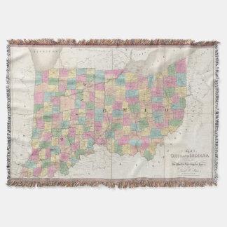 Mapa de Ohio y de Indiana Manta