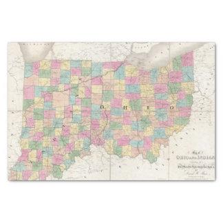 Mapa de Ohio y de Indiana Papel De Seda Pequeño