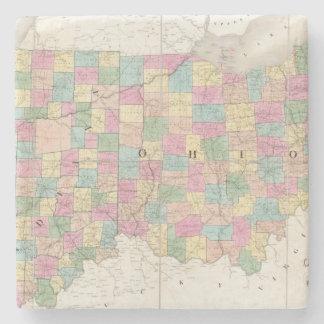 Mapa de Ohio y de Indiana Posavasos De Piedra