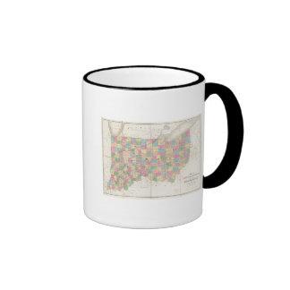 Mapa de Ohio y de Indiana Taza De Dos Colores