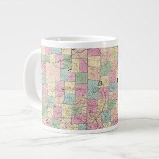 Mapa de Ohio y de Indiana Taza Grande
