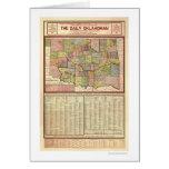 Mapa de Oklahoma y del territorio indio 1905 Felicitacion