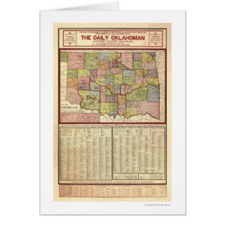 Mapa de Oklahoma y del territorio indio 1905 Tarjeta De Felicitación