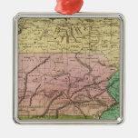 Mapa de Olney de los estados del centro Ornamento Para Reyes Magos