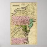 Mapa de Olney de los estados del centro Impresiones