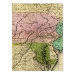 Mapa de Olney de los estados del centro Tarjetas Postales