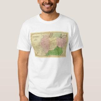 Mapa de Olney de los Estados Occidentales Camisas