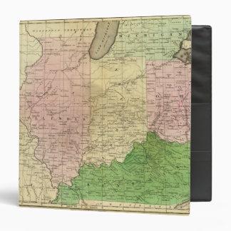 """Mapa de Olney de los Estados Occidentales Carpeta 1 1/2"""""""